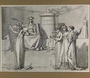 Allegorische voorstelling met Pax, Justitia, Amicitia en Pictura
