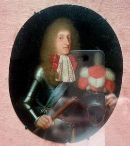 Portret van prins Jørgen (1653-1709), zoon van Frederik III van Denemarken
