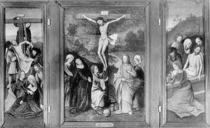 Drieluik met kruisafneming, kruisiging en graflegging