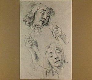 Studie van twee hoofden en twee handen