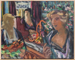Drie vrouwen in café