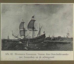 Schepen op het IJ voor Amsterdam