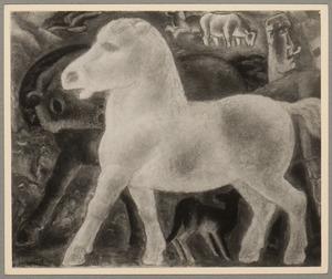 Boer met paarden