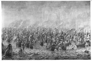 De zeeslag bij Nieuwpoort in 1653