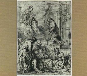 De Heilige Carolus Borromeus als voorspreker bij de Madonna voor de pestlijders van Milaan