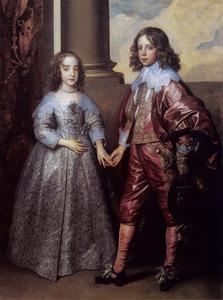 Dubbelportret van Willem II van Oranje-Nassau (1626-1650) en Mary I Stuart (1631-1661)