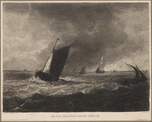 Smalschip op een binnenzee