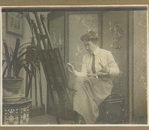 Portret van de schilderes Antoinette van Hoytema