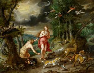 De verdrijving van Adam en Eva uit het Paradijs door God(Genesis 3:22-24)