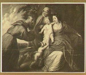 De Heilige familie met Franciscus, Anna en Johannes de Doper als kind
