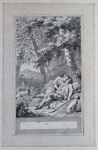 Illustratie bij 'Dametas en Philis' uit de Fabelen en vertelsels van F.C. Gellert