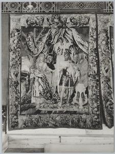 De vrouw van Spitamenes geeft Alexander de Grote het afgehakte hoofd van haar echtgenoot