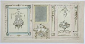 Voorbeelden van wanddecoraties met een spiegel en een tafel