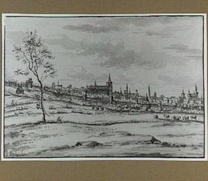 Bergen op Zoom, vanuit het noord-oosten gezien
