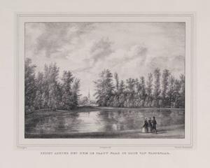 Gezicht over de vijver bij de hofstede De Paauw naar Wassenaar