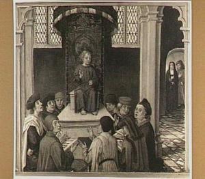 Christus tussen de schriftgeleerden (detail van het linkerluik)