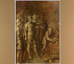 Julius Ceasar raadpleegt het orakel