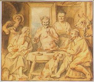 De fabel van de sater en de boer