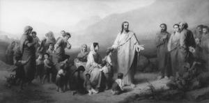 Christus zegent de kinderen (Mattheüs 19:13-15)
