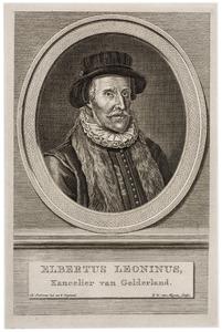 Portret van Elbertus Leoninus (-1598)