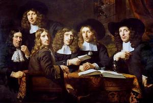 Groepsportret van de overlieden van het Chirurgijnsgilde te Amsterdam