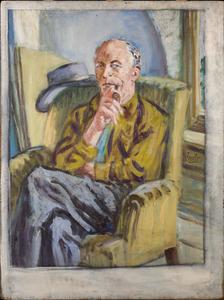 De schilder J. Sjollema (authentiek)