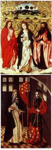 De HH. Johannes de Evangelist, Apollonia en Thomas (voorzijde); Twee heilige maarschalken: de HH. Antonius de Heremiet en Quirinus van Neuss (achterzijde)
