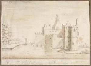 Achterzijde van kasteel Oostersteijn in Oosterland