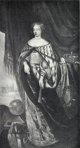 Portret van Koningin Charlotte Amalie (1650-1714), echtgenote van Christiaan V