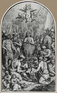 Het martelaarschap van Johannes de Evangelist in een ketel kokende olie