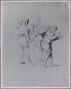 De engel verdrijft Adam en Eva