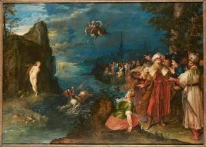 Perseus bevrijdt Andromeda