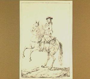 Ruiter te paard, naar links gewend