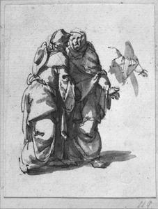 Twee staande vrouwen en studie van armen