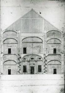 Villa Grimaldi 'Fortezza': Dwarsdoorsnede
