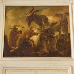Twee bokken en twee schapen