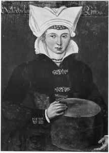 Vrouw uit Oudendijk in streekkostuum