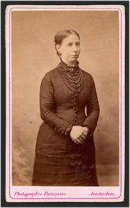 Portret van Wilhelmina Henriette Bicker (1840-1929)
