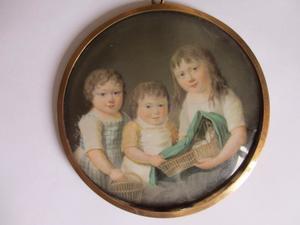 Familieportret van Catharina van Loon (1793-1875), Cornelia Margaretha van Loon (1796-1847) en Philippina Henrietta Cornelia van Loon (1792-1863)