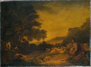 Landschap met vee (jonge herder met zijn kudde)