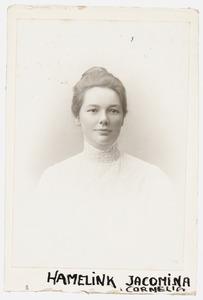 Portret van Jacomina Cornelia Hamelink (1876-1926)