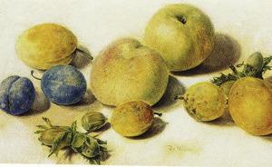 Perziken, pruimen en hazelnoten