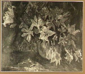 Lelies in roodkoperen pan