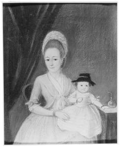 Familieportret van Louisa Meina Villerius (1752-1833) en Helena Catharina van Kruyne (1777-?)