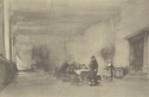 Eetzaal in het weeshuis te Delft