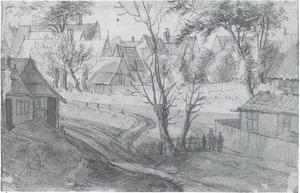 Passage op Hamburgs gebied bij Nobisteich met blik op Altona