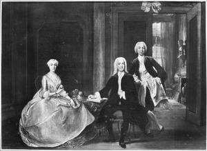 Portret van Aegidius Willem Tolling (1699-1778), Golina Smith (1706-?) en Egidius Laurens Tolling (1725-1768)