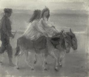 Ezeltje rijden aan het strand