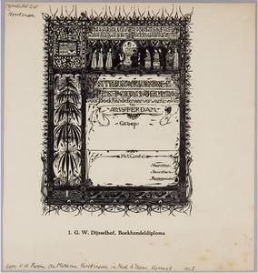 Diploma voor de 75e Internationale Tentoonstelling voor Boekhandel en Aanverwante Vakken