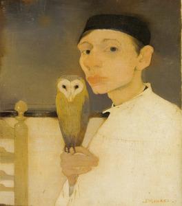 Zelfportret met uil
